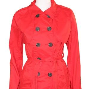 CAbi Red Pea Coat - Size 4 - Convertible Jacket
